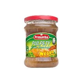 """Pulpety wegetariańskie w sosie pieczeniowym """"Weguś"""" Primavika"""