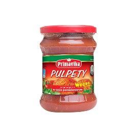 """Pulpety wegetariańskie w sosie pomidorowym """"Weguś"""" Primavika"""
