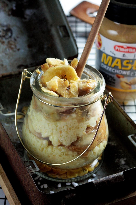 Pudding Z Tapioki Z Maslem Orzechowym I Bananami